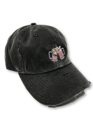 Charcoal Grey Cheers American Flag Hat