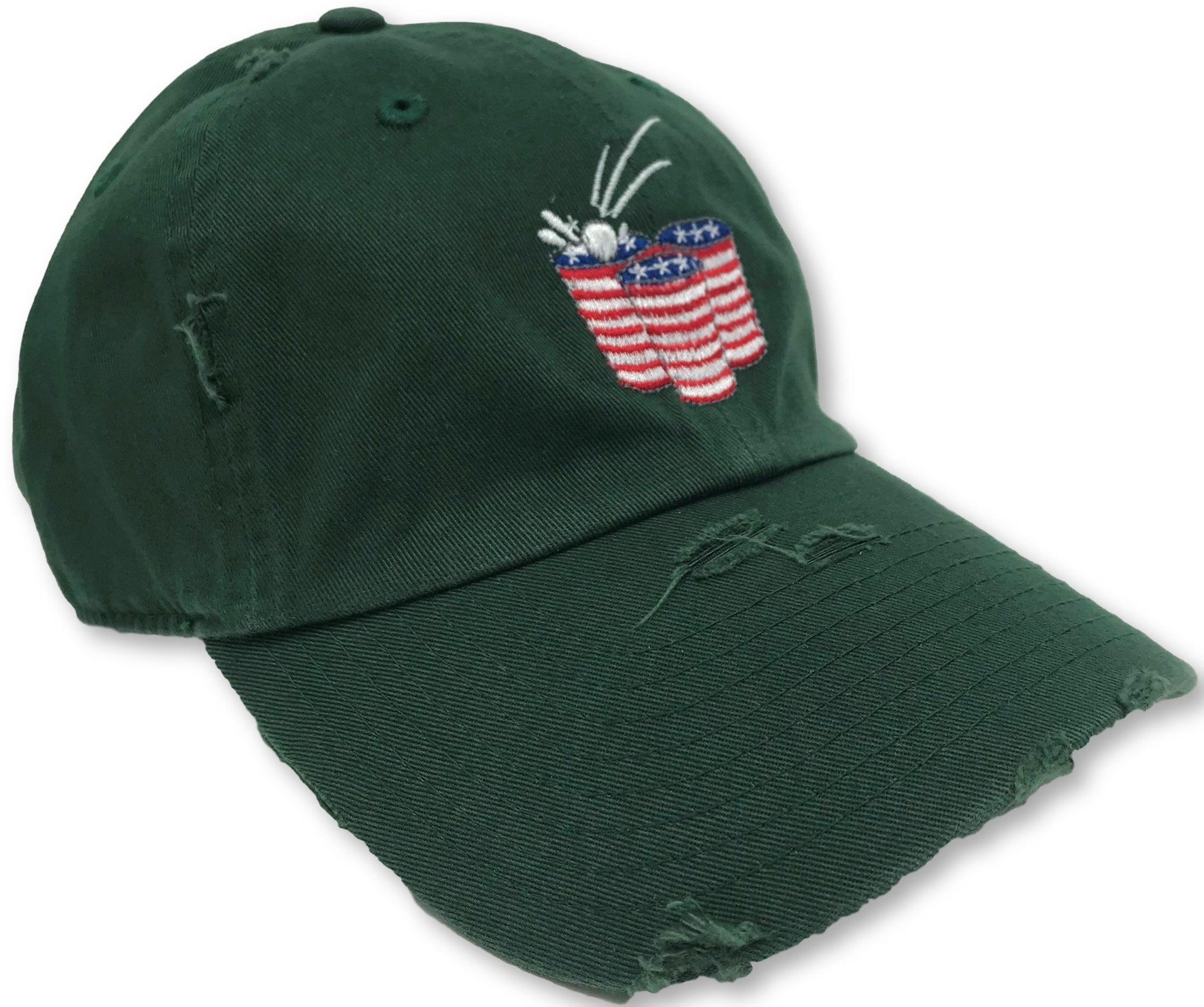 Hunter Green Beer Pong American Flag Hat