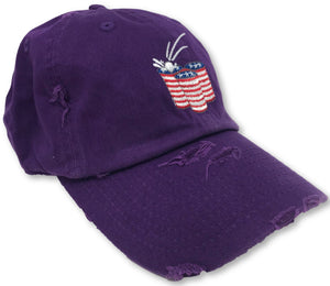 Purple Beer Pong American Flag Hat
