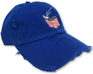 Royal Blue Beer Pong American Flag Hat