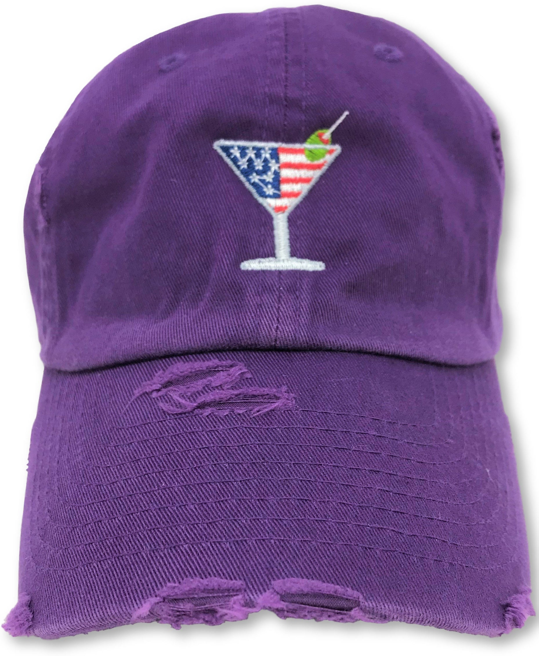 Purple Martini American Flag Hat