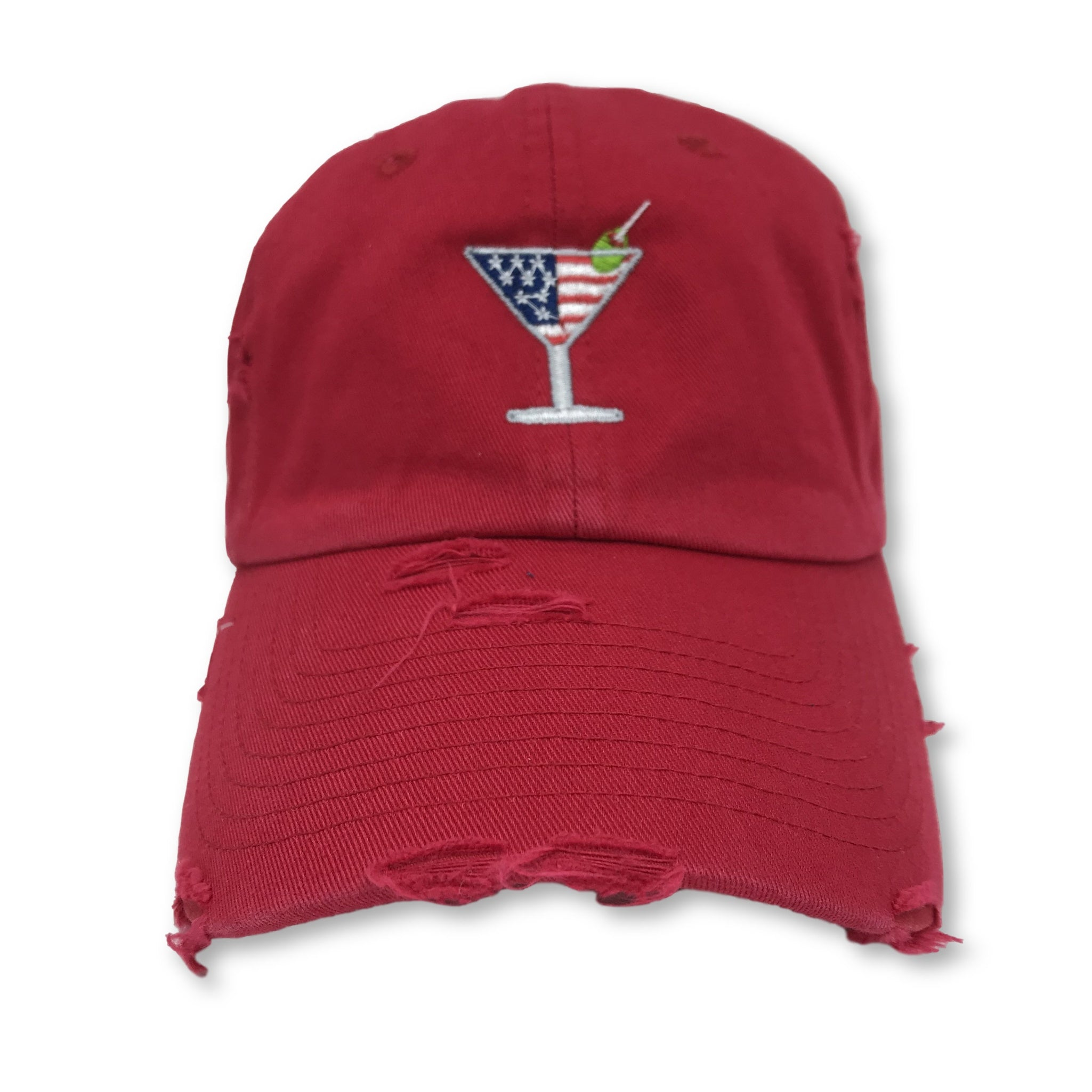 Red Martini American Flag Hat