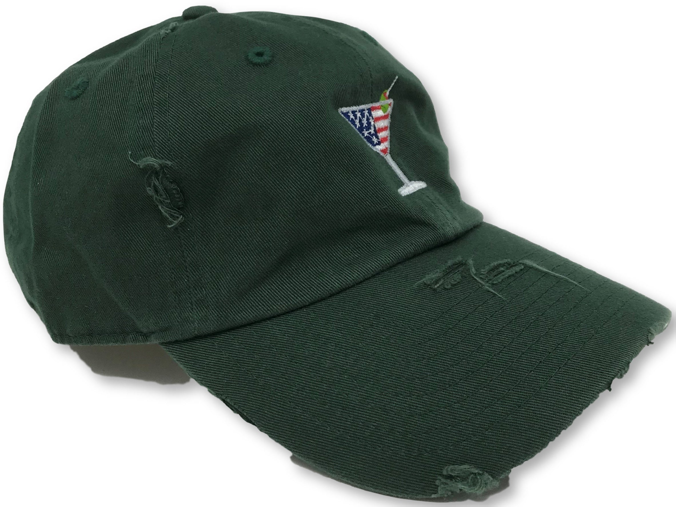 Hunter Green Martini American Flag Hat