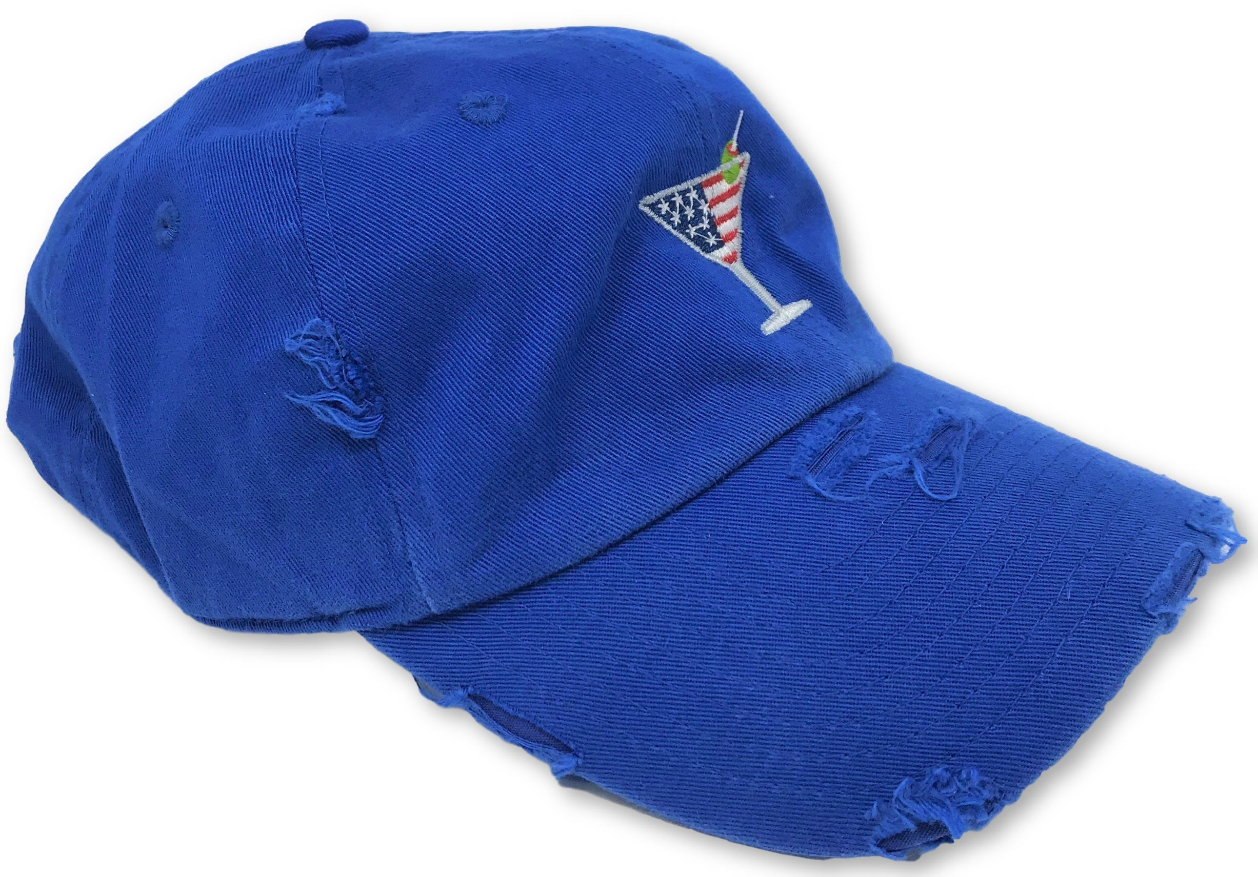 Royal Blue Martini American Flag Hat