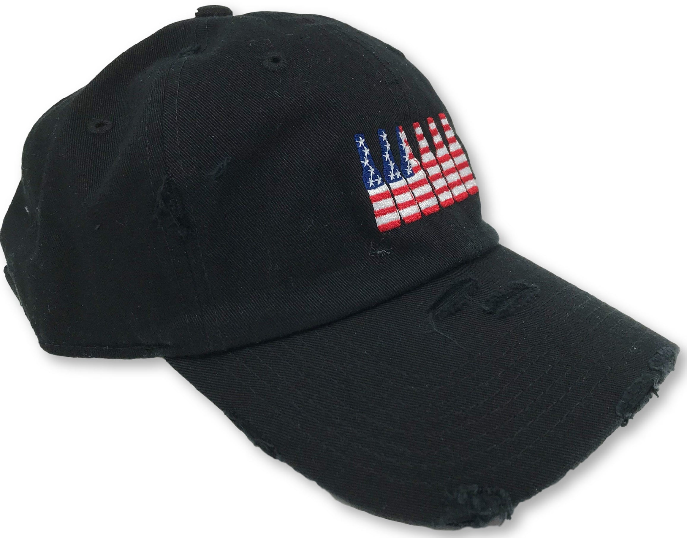 Black 6 Pack American Flag Hat