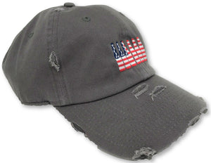 Charcoal Grey 6 Pack American Flag Hat