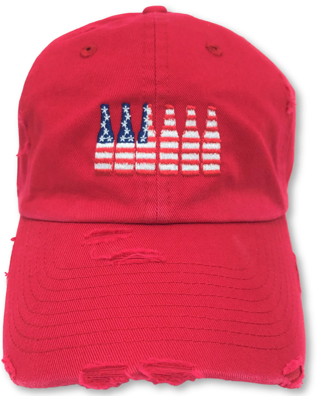 Red 6 Pack American Flag Hat