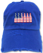 Royal Blue 6 Pack American Flag Hat
