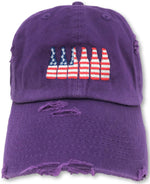 Purple 6 Pack American Flag Hat