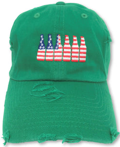 Kelly Green 6 Pack American Flag Hat