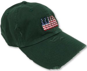 Hunter Green 6 Pack American Flag Hat