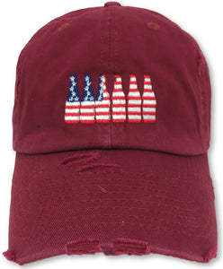 Maroon 6 Pack American Flag Hat