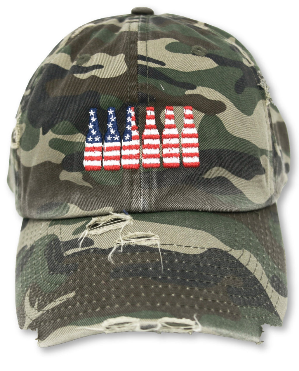 Camo 6 Pack American Flag Hat
