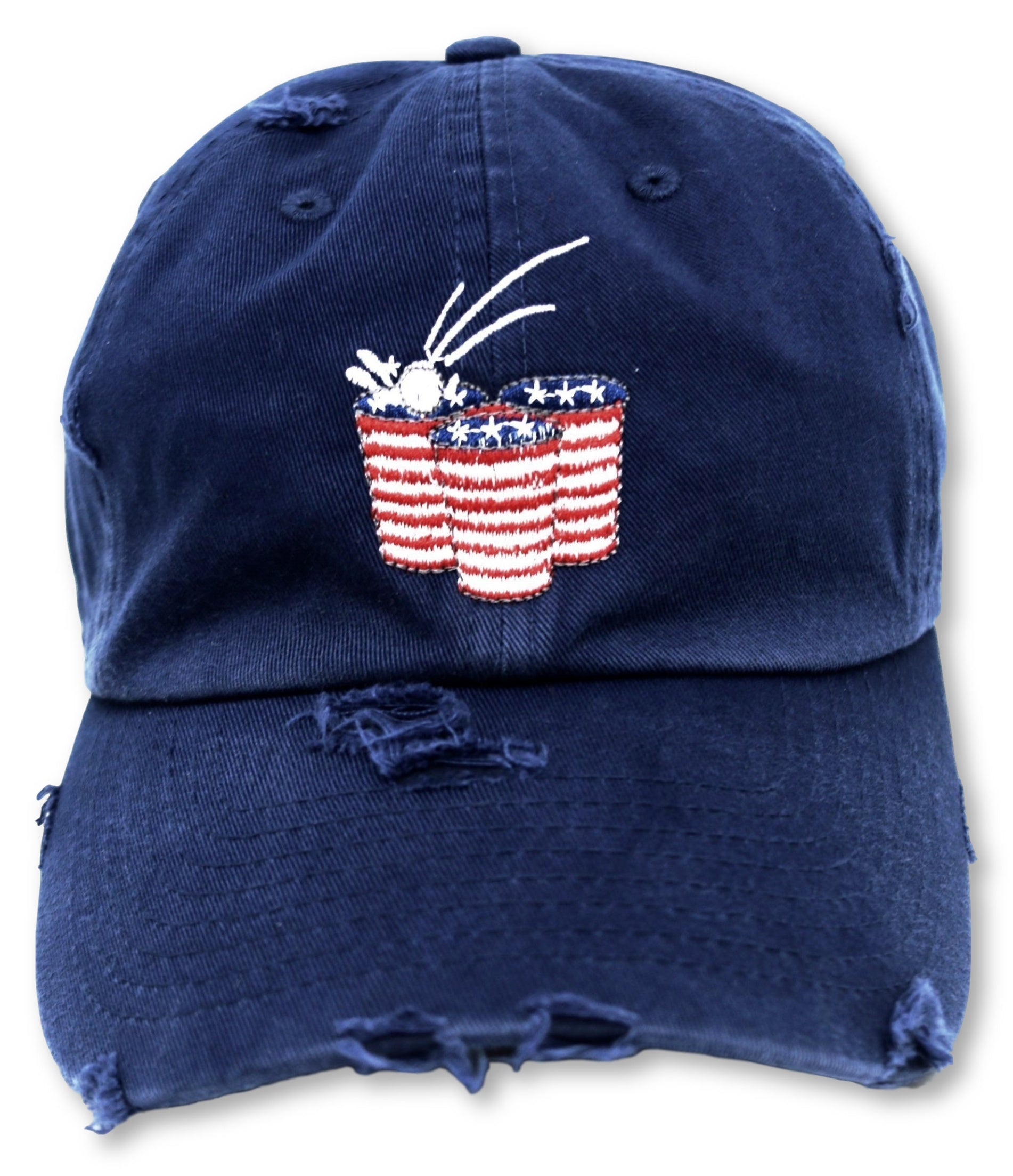 Navy Beer Pong American Flag Hat
