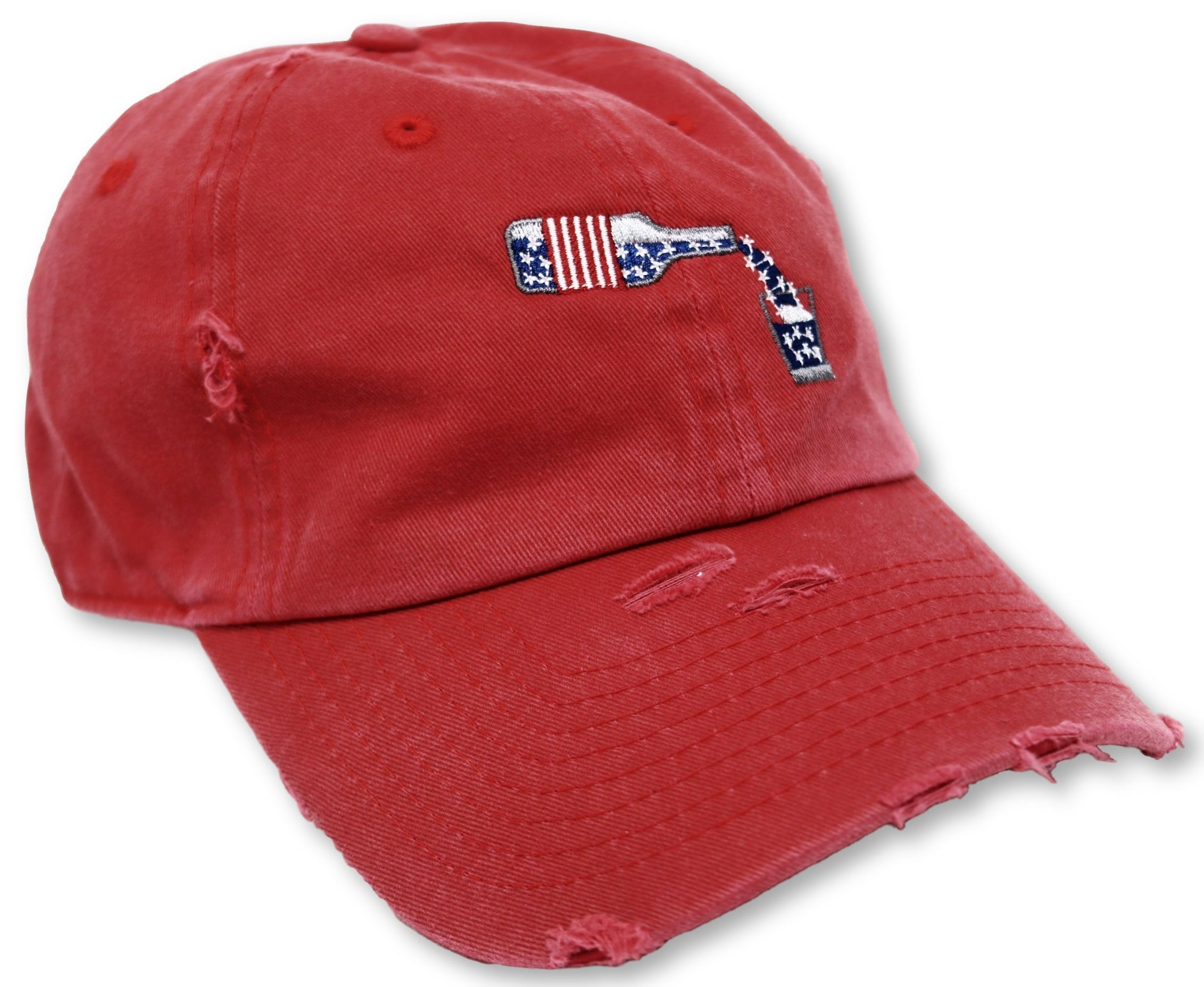 Red Whiskey American Flag Hat