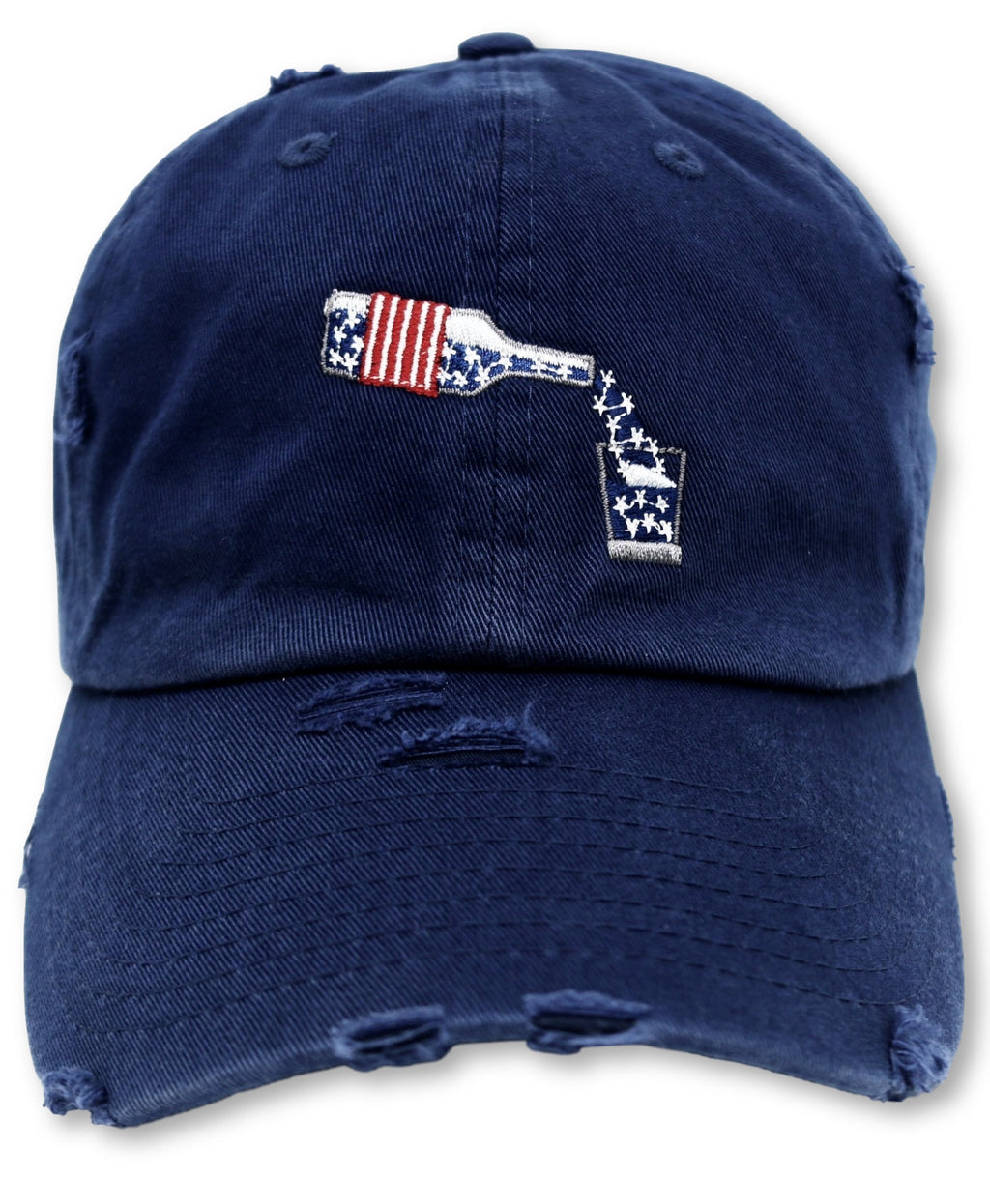 Navy Whiskey American Flag Hat