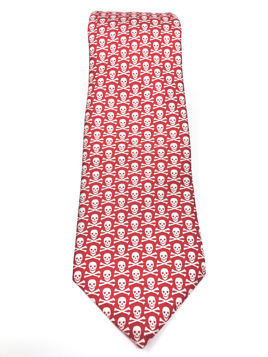 Red Jolly Roger Tie