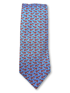 Light Blue Fox Tie