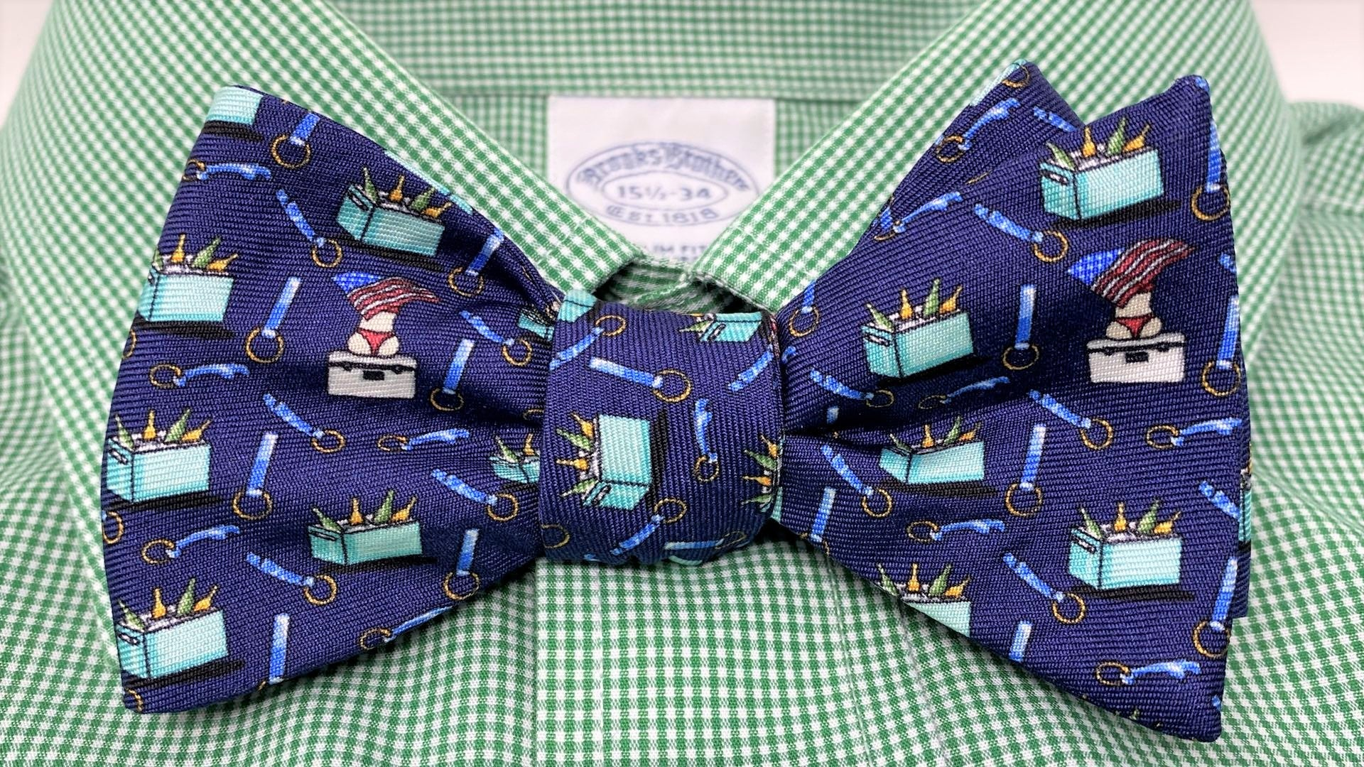 Navy Beer Cooler Bow Tie