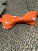 Hunting Hound Woven Emblematic Repp Bow Tie