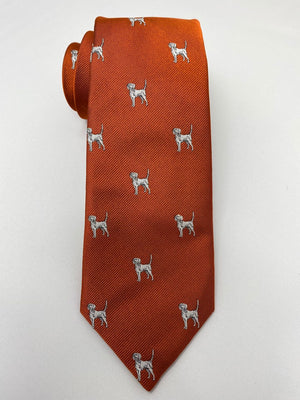 Hunting Hound Woven Emblematic Repp Tie