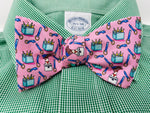 Pink Beer Cooler Bow Tie