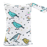 Feminine Wear Wet Bag - Medium Birds