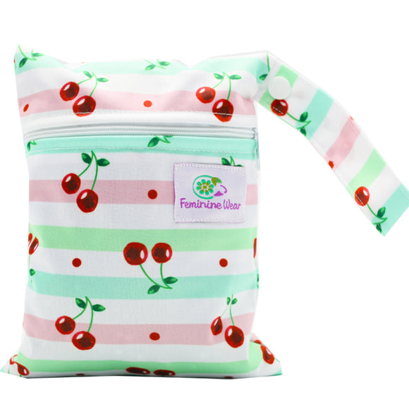 Feminine Wear Wet Bag - Small Cherries
