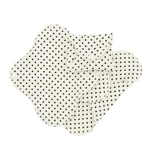 ImseVimse Organic Cotton Pantyliners - Pack of 3 - Black Dots