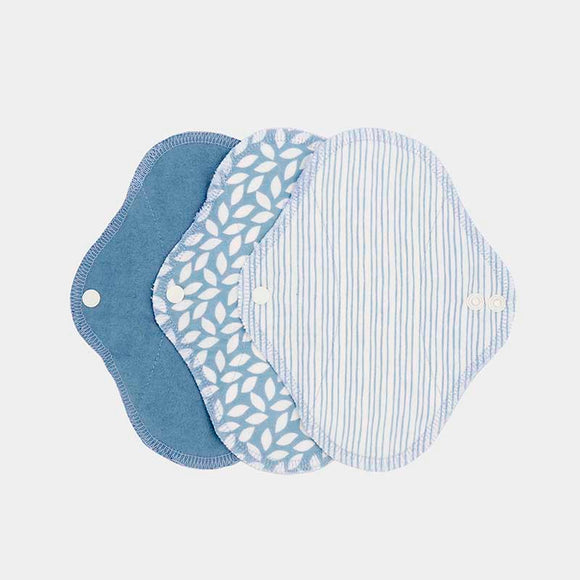 ImseVimse Organic Cotton Pantyliners - Pack of 3 - Denim