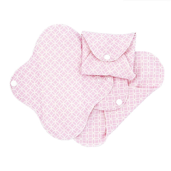 ImseVimse Organic Cotton Pantyliners - Pack of 3 - Pink Halo
