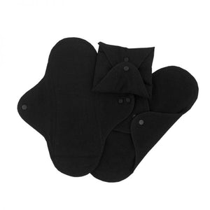ImseVimse Organic Cotton Regular Pads - Pack of 3 - Black