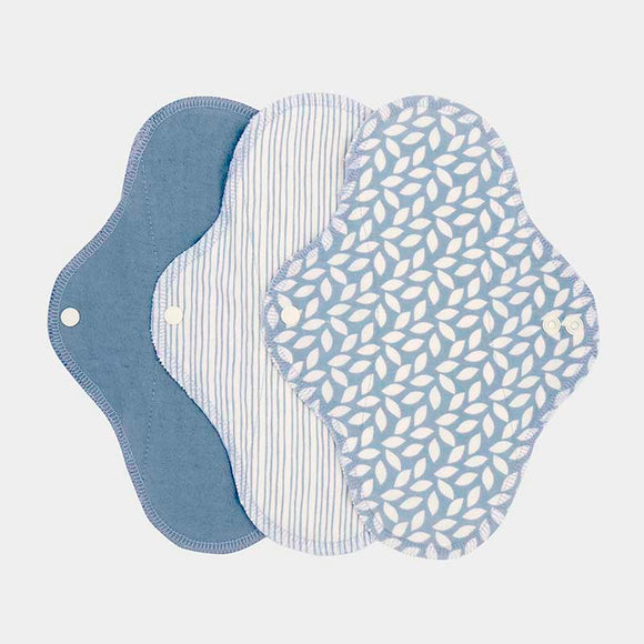 ImseVimse Organic Cotton Regular Pads - Pack of 3 - Denim