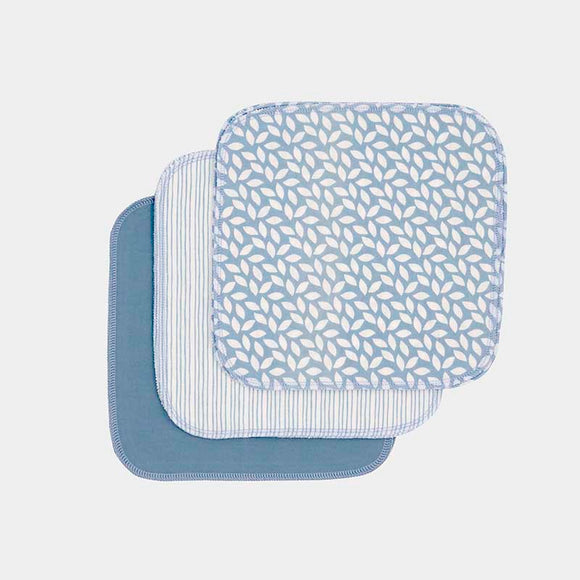 ImseVimse Organic Washable Wipes - Denim - Pack of 10
