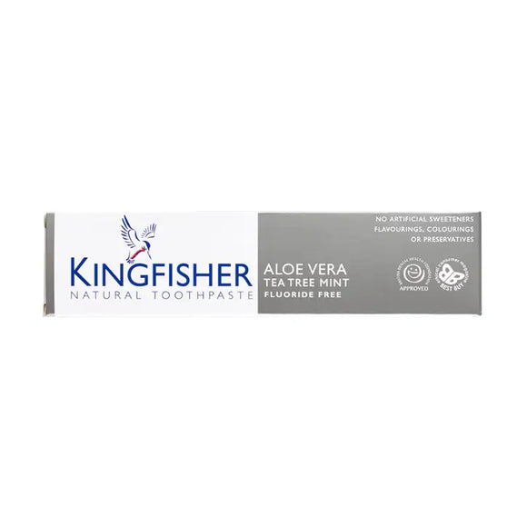 Kingfisher Natural Toothpaste 100ml - Aloe Vera Tea Tree And Mint Fluoride Free