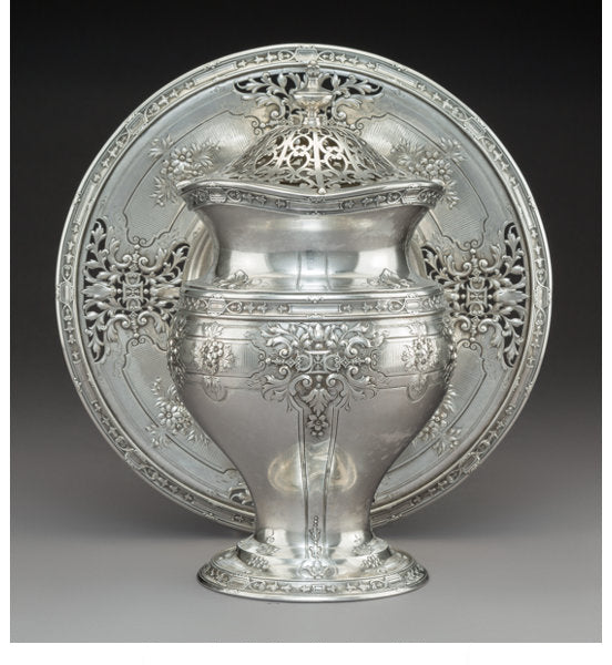 A Grogan Company Silver Covered Vase and Stand, Pittsburgh, Pennsylvania, early 20th century