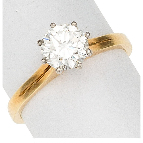 Diamond, 18k Gold Ring