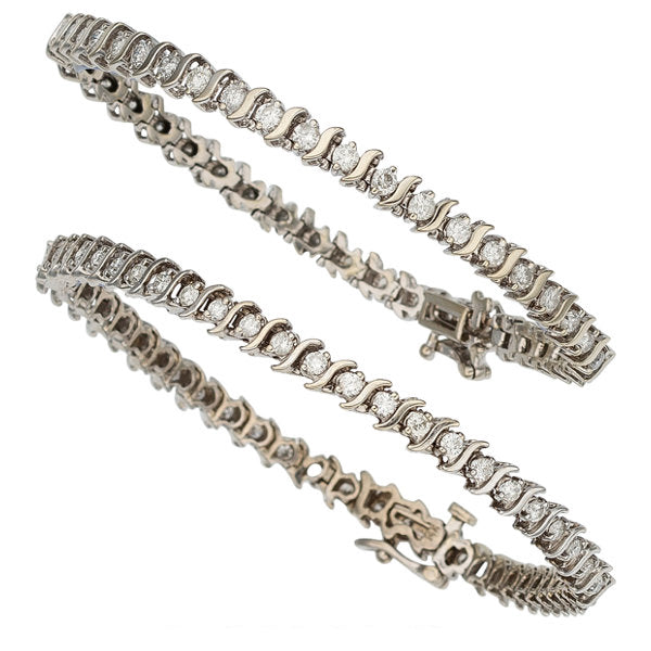 Diamond, White Gold Bracelets