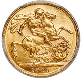 Edward VII gold Sovereign 1910-C MS63 PCGS
