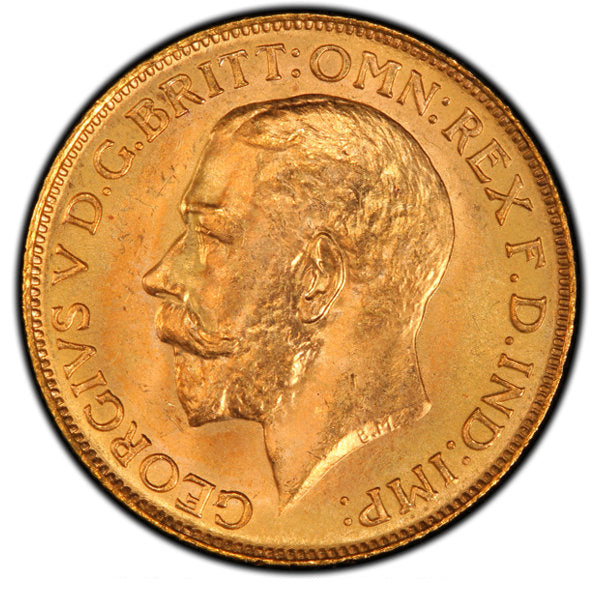George V gold Sovereign 1911-C MS65 PCGS
