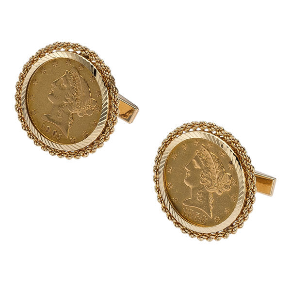 Gold Coin, Gold Cuff Links