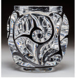 Lalique Clear and Enameled Glass Tourbillons Vase