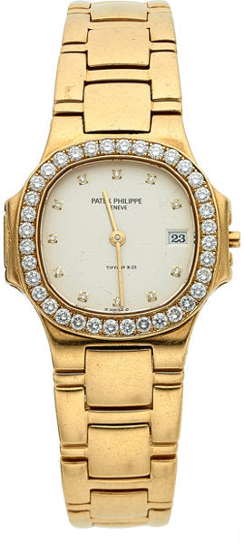 Patek Philippe Ref. 4700/530 Lady's Gold Nautilus With Diamonds