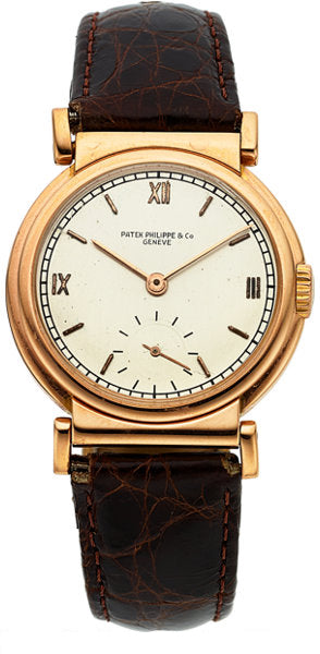 Patek Philippe & Co. Rare Ref. 485 Vintage Rose Gold Wristwatch, circa 1941