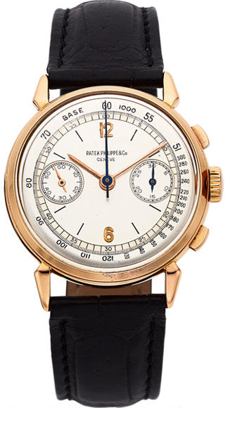 Patek Philippe & Co. Ref. 1579 Rare Rose Gold Vintage Chronograph Wristwatch, circa 1946