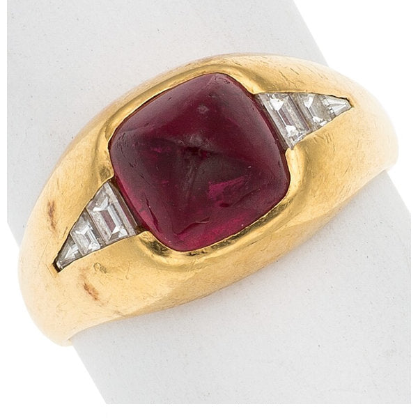 Pink Tourmaline, Gold Ring, Bvlgari