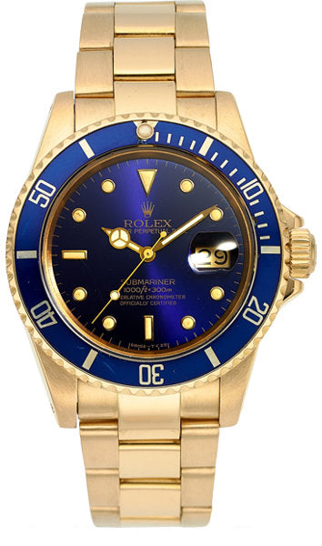 Rolex Ref. 16808 Gold Oyster Perpetual Date Submariner, circa 1983