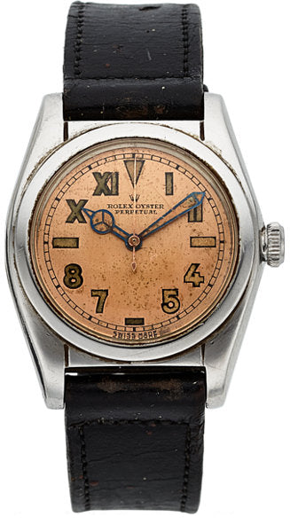 Rolex Very Fine Ref. 2940 Steel Bubble Back With Rare Dial, circa 1946