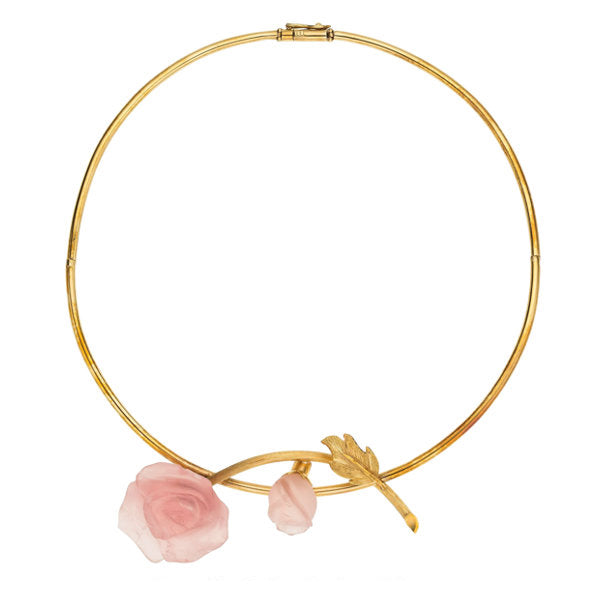 Rose Quartz, Gold Necklace