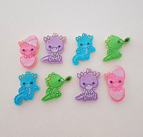 Kawaii Dragons Cookie Cutters